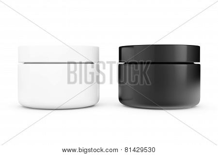 Black And White Cosmetic Containers