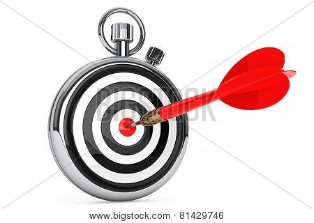 Stopwatch With Target And Dart Arrow
