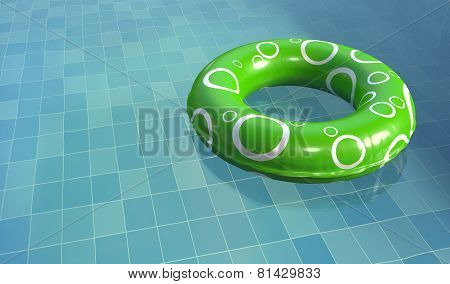 Swim Ring in Pool