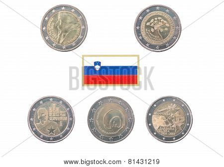 Collection Of Commemorative Coins Of Slovenia
