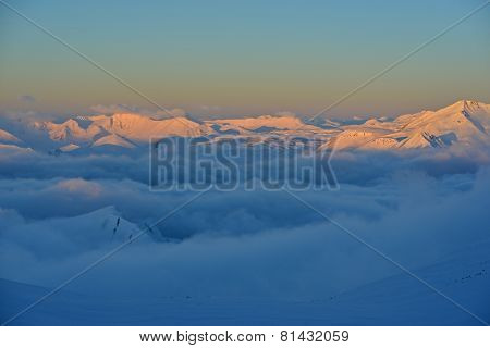 Sunrise In The High Mountains