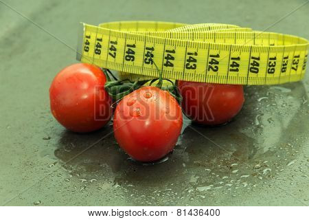Red Tomatoes With Green Branch