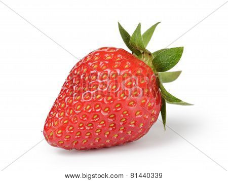 whole strawberry berry isolated on white