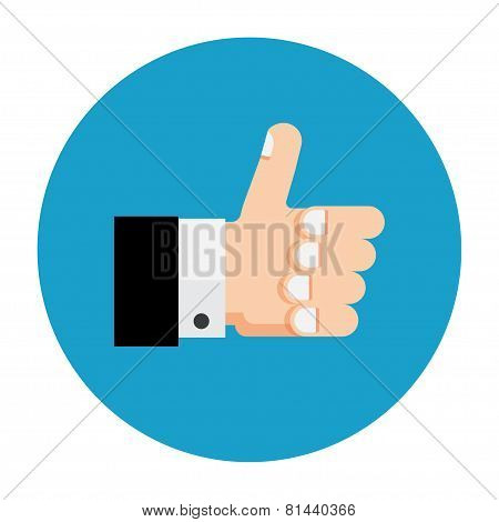 Thumb up icon, like