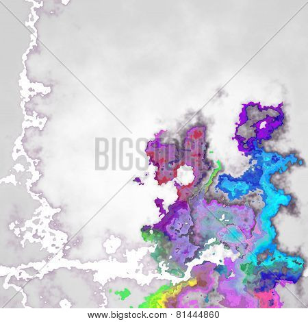 Colorful Mottled Texture In Violet, Blue And Grey