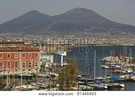 Mount Vesuvius, and the Gulf of Naples