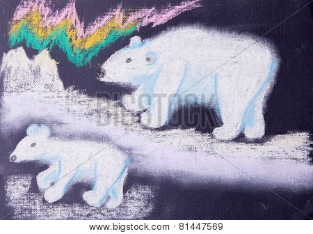Child Picture Of White Bears