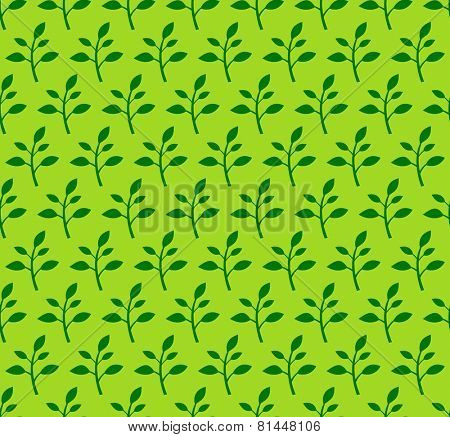 Seamless floral pattern with spring sprouts