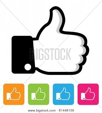 Thumbs up symbol. Like icon