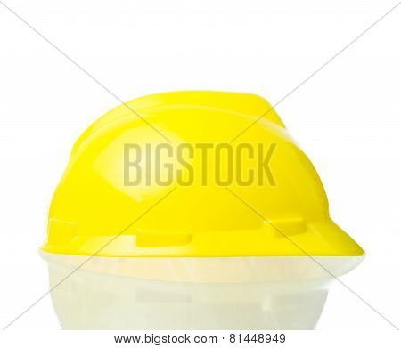 Hard Yellow Hat For Industrial Work, Engineers, Architect Isolate
