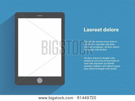 Tablet with blank screen