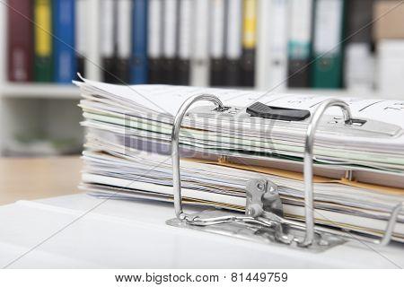 File Folders On Desk