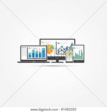 Web and SEO analytics concept - Illustration