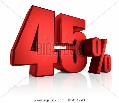 Red 45 Percent