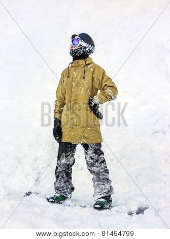 Snowboarder In The Mountains