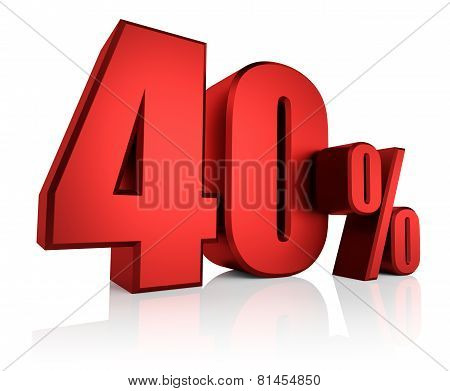 Red 40 Percent