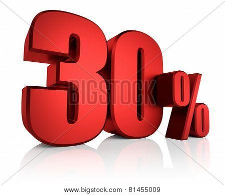 Red 30 Percent