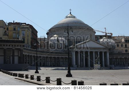 San Francesco Di Paola Church In Piazza Del Plebiscito Naples