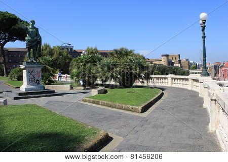 Statue Of Cesario Console On The Marina Garden, Naples