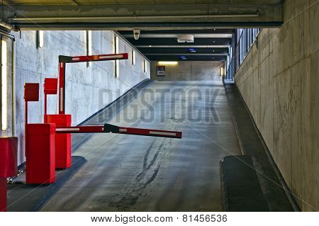 Barrier In A Car Park