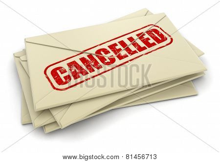 Cancelled letters  (clipping path included)