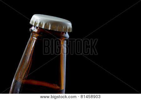 Close up beer bottle cap