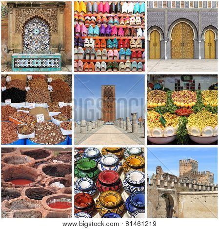Morocco Landmarks collage