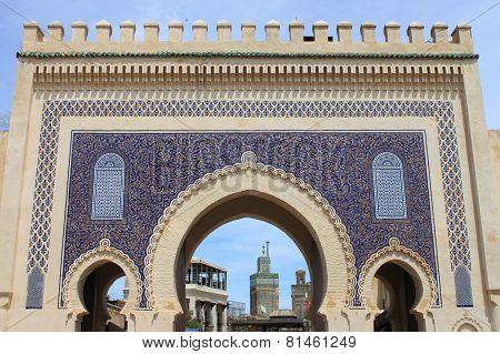 Bab Bou Jeloud Gate in Fez