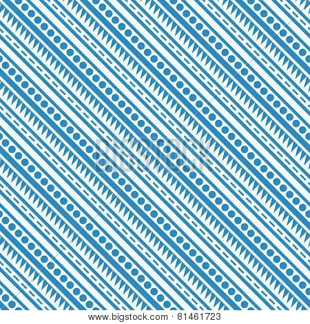 Diagonal Blue And White Seamless Pattern