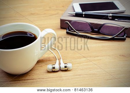 Note Book With Coffee