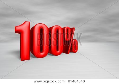 100% Red With Clipping Path