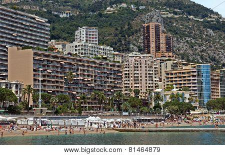 Monaco - Monte Carlo Buildings From The City Beach