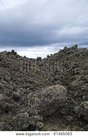 Close-up Of Lava In The National Park Of Craters