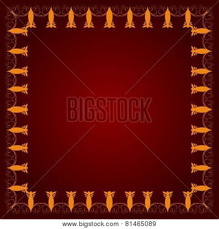 Background With Decorative Frame