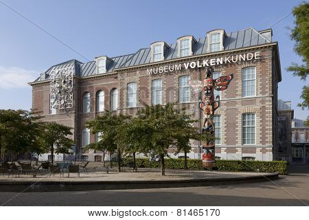 LEIDEN,NETHERLANDS -  SEPTEMBER 16,, Building of the National Museum of Ethnology
