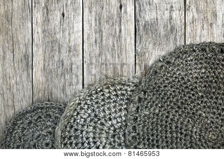 Grunge Style Decoration With Old Handmade Crochet Doilies.