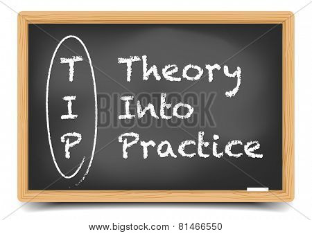 detailed illustration of a blackboard with TIP motivation term explanation, eps10 vector, gradient mesh included