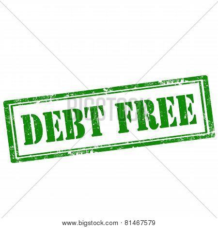 Debt Free-stamp