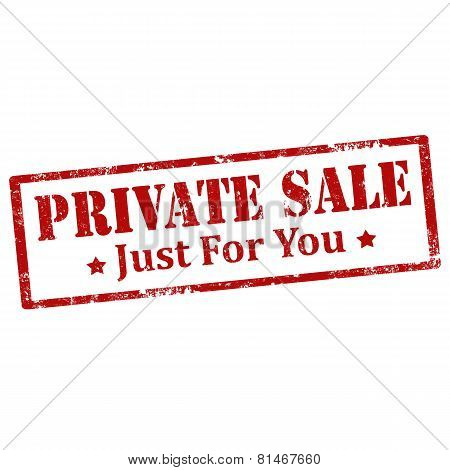 Private Sale-stamp
