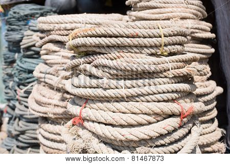 Used Ropes At Ship Chandler