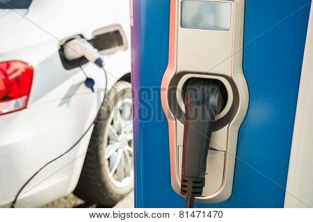 Electric Car Being Recharged