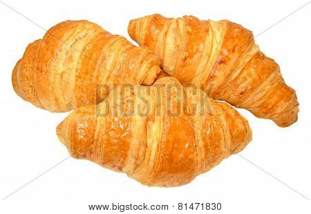 Croissants On White