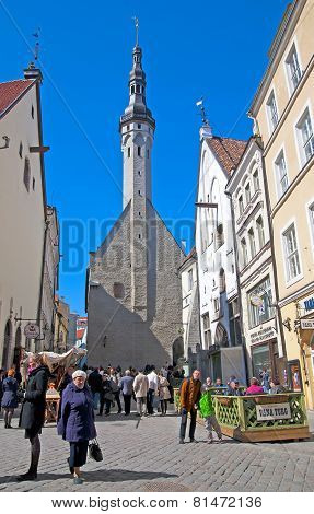 Tallinn. Estonia. Town Hall Tower