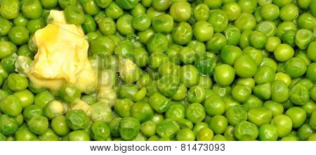 Cooked Garden Peas