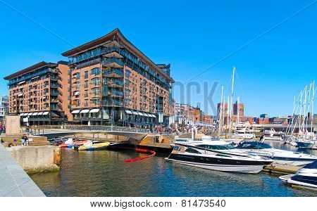 Oslo. Norway. Modern buildings. Aker Brygge