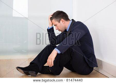 Portrait Of Depressed Businessman