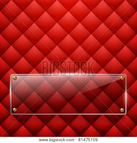 Glass framework Leather background. Vector illustration. Eps 10