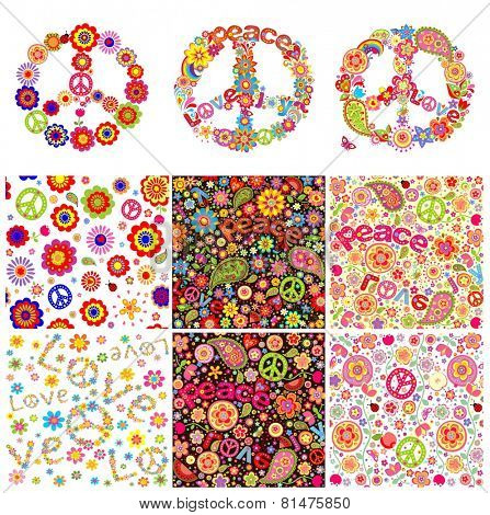 Hippie symbolic design