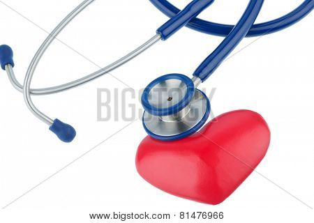 stethoscope and a heart symbol photo for cardiovascular risk and myocardial infarction