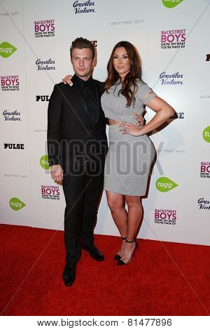 LOS ANGELES - JAN 29:  Nick Carter, Lauren Kitt at the